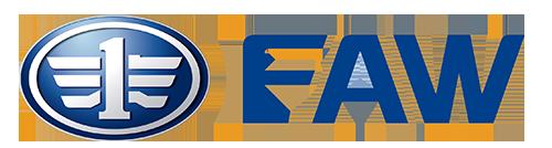 FAW Trucks Logo placed beside company description